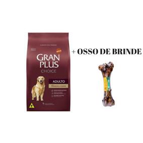 Ração Gran Plus Choice - Frango E Carne 15kg + Brinde