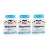 Magnésio 250 Mg 21st Century 3 X 110 Tabletes Importado Eua