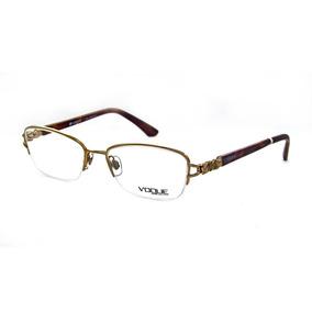 30eb8a68c65f6 Oculos Vogue Dourado Com Strass De Grau - Óculos no Mercado Livre Brasil