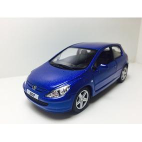 Miniatura Peugeot 307 Xsi 2001 Azul 1/32 Kinsmart