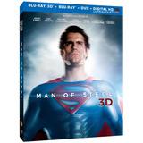 Superman - Man Of Steel - Blu-ray 3d + Blu-ray + Dvd, Nuevo!