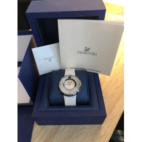 Reloj Dama Swarovski Blanco De Piel