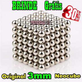 Neocube Cubo Magnético 216 Esferas Prateado Imã Neodímio 3mm