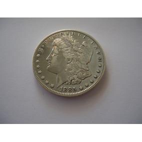 Moeda Prata 1 Um One Dolar Morgan 1885 Usa Americano Rara