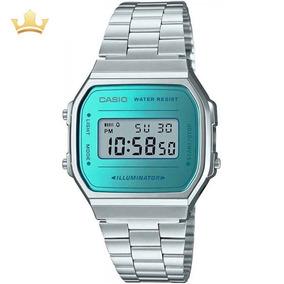 21bb0e7d98f Casio Vintage Prata Com Azul Feminino - Relógios De Pulso no Mercado ...