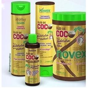 Kit Novex De Coco Shampoo Mascara Condicionador Oleo