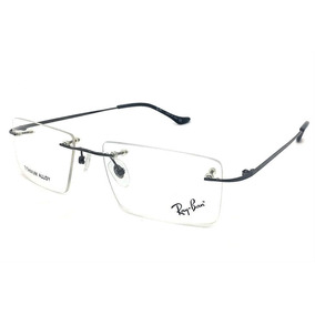096870fb9 Armação Oculos Grau Rb2011 Original Titanium Masculino