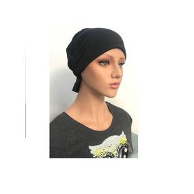 Touca Quimioterapia Malha Fria Preto Lenço Alopecia Onco b0a9f6deadb