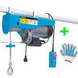 Aparejo Electrico 1000kg Monta Carga Cable Gamma + Guante