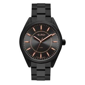 Relógio Euro Preto Feminino Analógico Eu2035ypy/4p
