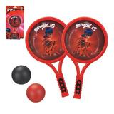 Kit Raquete Infantil Miraculous Ladybug