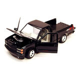 Chevrolet 1500 Pick Up Ss454 Negra Escala 1:24 Motor Max