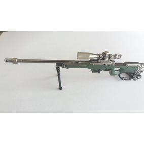 Chaveiro Miniatura Metal Réplica Rifle Magnum L115a1 Sniper