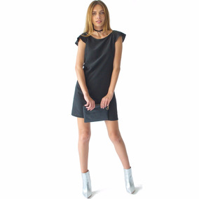 Vestido Negro Corto Escote Espalda Mujer Casual Rack & Pack