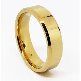 9f55f5a88f9af Aliança Tungstenio Chanfrada Reta 12mm Ouro Pdv Largura Gold ...