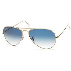 Óculos Ray Ban Aviador Dourado Lente Azul Gradiente Original ... 1016b2fbfa