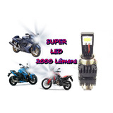 Lampada Super Led H4 2000lm Moto 2 Leds Twister Cb300 Xre