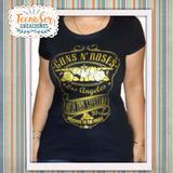 Remeras Guns N Roses En Vinilo Dorado Para Dama Y Hombre 37077d1899b9e