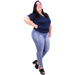 6f56c34bb Calça Flare Plus Size Jeans - Calças Jeans Feminino no Mercado Livre ...