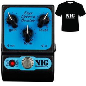 Pedal Nig Easy Drive Ped Overdrive Booster Camiseta Brinde