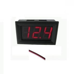 Voltímetro Digital 3fios P/painel Led Vermelho 0v-30v-cod.97