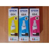 Tinta Epson T664 Original. Vendo Las 3 Juntas