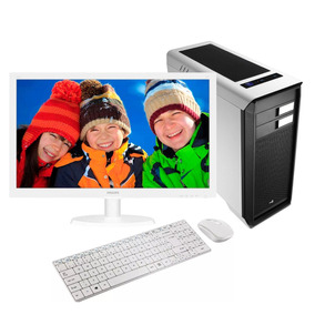 Computador Intel Core I5 8gb 500gb Monitor 21 Easypc Branco