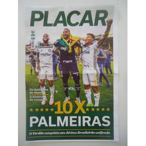Palmeiras Decacampeão Brasileiro 2018 Poster Placar