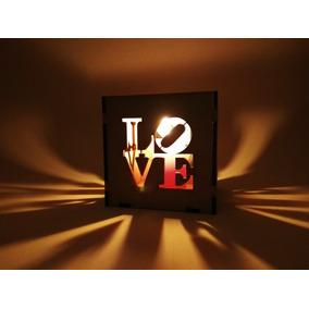 Fanal Love Fribrofacil Pintable Decoración Hogar Fiestas