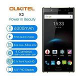 Oukitel K3 - Flash Frontal 6000mah - Pronta Entrega - Preto