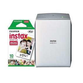 Combo Instax Share Sp 2 + 20 Filmes Mini (silver Ou Gold)