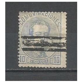 Selo Espanha,selo Amadeo 1° 1872,10c N°121 Canc Barras,usado