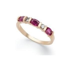 ebab5f4ff3925 Meia Aliança Rubi Diamantes - Joias e Bijuterias no Mercado Livre Brasil