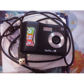 Câmera Digital Sunfire S55 5.0 Megapixels Tela 2.4