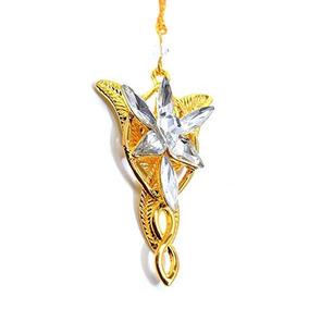 Colar Evenstar Arwen Dourado - Senhor Dos Anéis