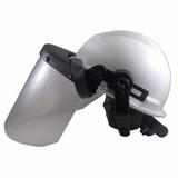 9062bf8ff83e4 Capacete Com Protetor Facial Telado E Abafador De Ouvidos no Mercado ...