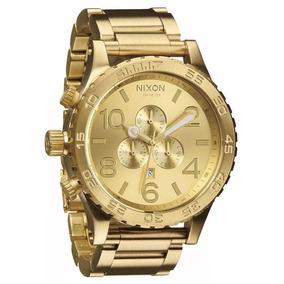 Relógio Nixon Dourado Chrono Men´s 51-30 Original