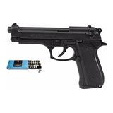 Pistola Fogueo Bruni 92 9mm + Caja Fogueo De 9 Mm (50 Uni)