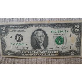 Nota Rara E Antiga De 2 Dolares De 1976 Em Bom Estado