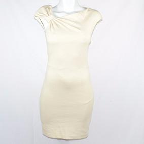 Mango Suit Vestido Beige Moño Xs Msrp $1,100