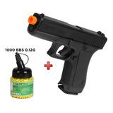 Pistola Airsoft Kwc Glock G7 Spring Frete Grátis + 1000 Bbs