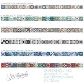 Vinilos para azulejos vinilos decorativos en mercado for Guardas decorativas para cocina