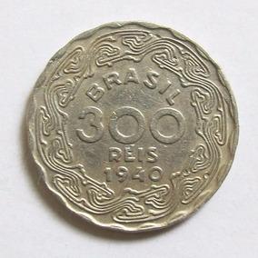 Moedas 300 Réis 1938 E 1940 Getúlio Vargas, Raras M B C