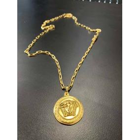 b43838bb64543 Corrente Cartier C pingebte Medusa Banhado A Ouro 18k