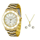 c10cc335b90 Kit Relógio Feminino Lince Analógico Lrgj067l Ku94 - Dourado