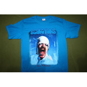 Gusanobass Playera Rock Metal Scorpions Blackout Azul Med