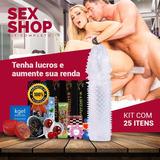 Kit Lubrificante 25un Aumente Penis C/ Capa Peniana Sexyshop
