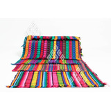 Lote 6 Caminos De Mesa Artesanal Colorido Mexicano De Tela