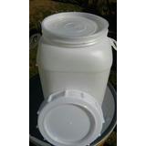 Tarrina Plástico 30 Litros Doble Tapa Con Asas Limpias