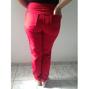 d57b4ed7b Calca Tecido Sarja Calcas - Calças Feminino no Mercado Livre Brasil